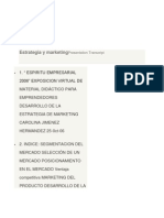 Estrategia y marketing Presentation Transcript.docx
