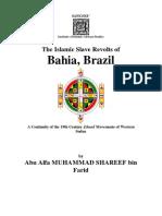 Bahia Slave Revolt of Brazil