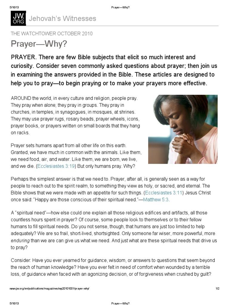 Prayer—Why? | Prayer | Ancient Mediterranean Religions