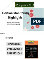 Election Monitoring Highlights