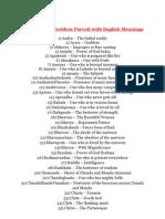 108 Names of Goddess Parwati