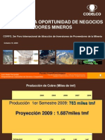 Plan de Desarrollo de Codelco y Oportunidades de Inversion
