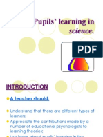 Pupils' learning in science