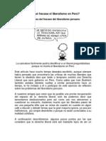 13 Razones Del Fracaso Del Liberalismo Peruano