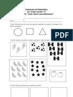 Evaluacion de Matematica I de 2013