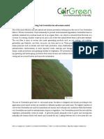 Using Coir Geotextiles for Soil Erosion Control