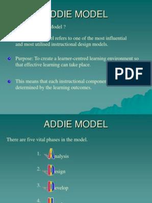 Addie Model Instructional Design Evaluation