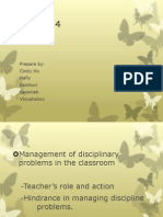 Management of Disciplinary Problems