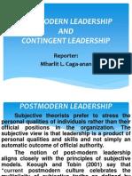 Postmodern & Contingent Leadership-Report