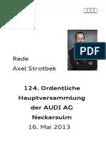 Axel Strotbek - 124. Ordentliche Hauptversammlung der AUDI AG