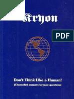 Kryon Book-02 Don't Think Like a Human