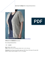 Top Down Raglan Summer Cardigan-free Pattern