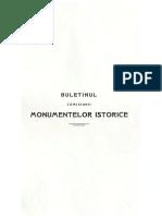 Buletinul Comisiunii Monumentelor Istorice 1908 Anul I