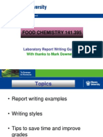 Lab Report Writing FOOD CHEMISTRY
