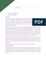 Theoris Economic and Development Economics