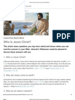 Who Is Jesus Christ? Learn From God's Word