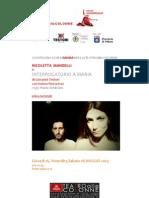 Comunicato Stampa Interrogatorio a Maria Maggio 2013