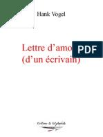 Lettre d'amour (d'un écrivain)
