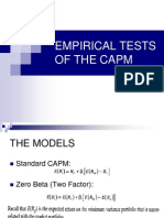 Empirical Tests of Capm