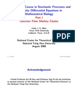 An Intensive Course In Stochastic Processes