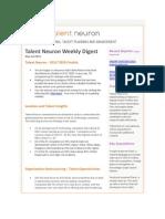 Talent Neuron Newsletter