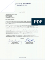 Letter to Clinton - Durban - April 09 (1)