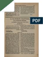 0200-0300, Victorinus Petavionensis Episcopus, De Fabrica Mundi [Fragmentum], MLT
