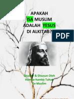 Apakah Isa Muslim Adalah Yesus Di Alkitab