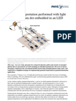 Quantum Teleportation Performed With Light From a Quantum Dot Embedded in an LED