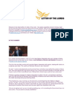 Letter of the Lords - May 17, 2013