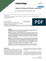 Epidemiologia Europa Oceania