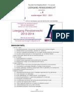 Nieuwsbrief 4 Leergang Pensioenrecht 2012-2013
