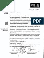Carta Comida Agrupacion 2012