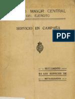 Servicio en campaña - reglamento de los servicios de retaguardia (1925)