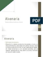 Aula 02 - Alvenaria  - Sérgio.