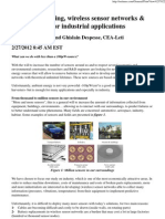 Energy Harvesting, Wireless Sensor Networks & Opportunities for Industrial Applications