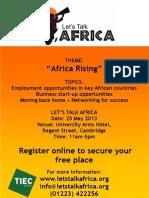 Let's Talk Africa 2013 Flyer