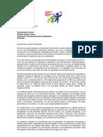 Carta de IDI al Presidente Ley Alimentación Saludable