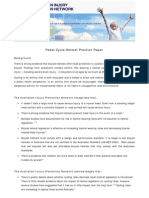 Pedal Cycle Helmet Position Paper Final