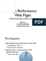 High Performance Web Pages – Real World Examples