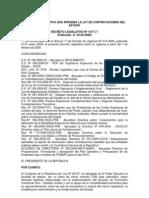 Ley de Contrataciones y Adquisiones Del Estado