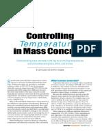 Controlling Temperatures in Mass Concrete
