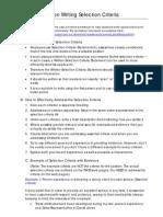Selection Criteria Tips 070917