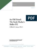 ShillerPECommentary_AQRCliffAsness