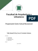 Programaci Centro Cultural ArequipaNivel7