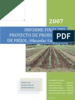 Informe Final de Proyecto Frijol