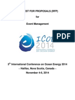 Request for Proposals for Event Management - ICOE 2014