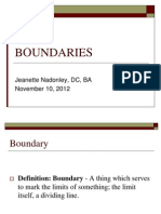 Boundaries 11-10-12