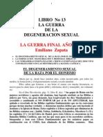 Libro No 13 La Guerra de La Degeneracion Sexual La Guerra f