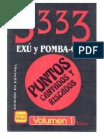 3333 Pontos Cantados e Riscados de Exu e Pombz Gira